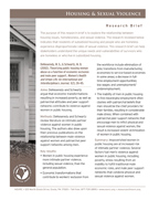 Housing & Sexual Violence Research Brief Cover with image of door