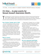 SAAM 2012 Events List Cover
