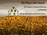 Introduction slide to No Place Like Home Webinar with picture of house and flowers